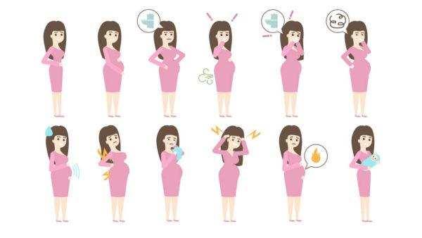 неприятные симптомы беременности