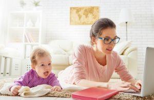 Работа дома с маленьким ребенком: преимущества и недостатки