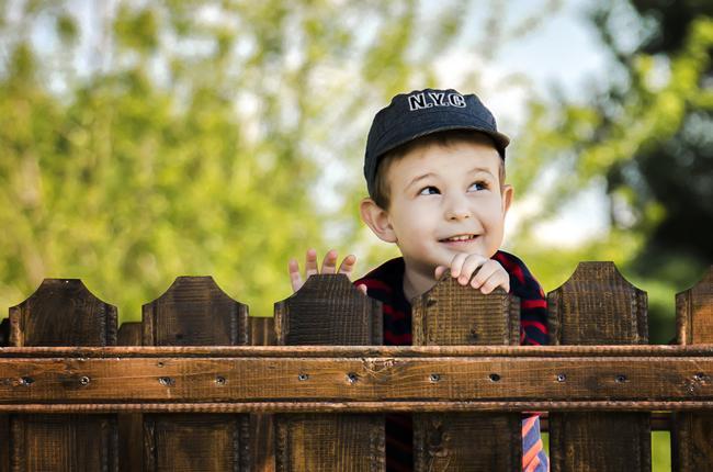 мальчик за забором